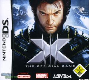 xmen the official game cover ds