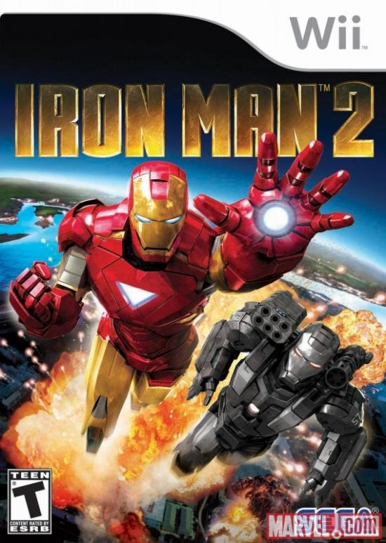 iron man 2 wii cover art