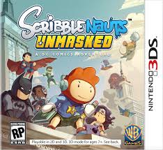 scribblenauts unmasked 3ds cover