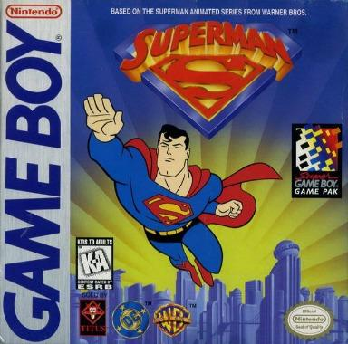 superman gameboy cover