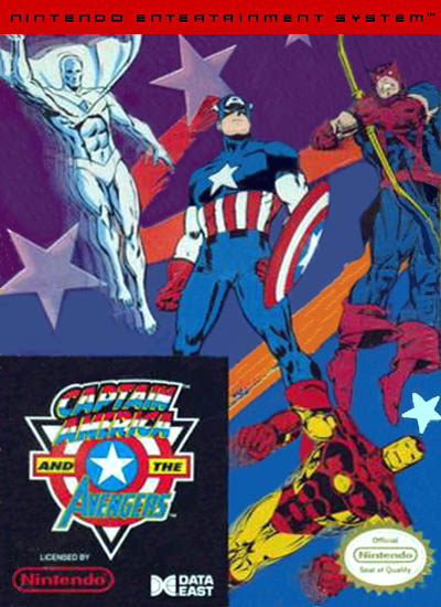 captain america and the avengers nes cover