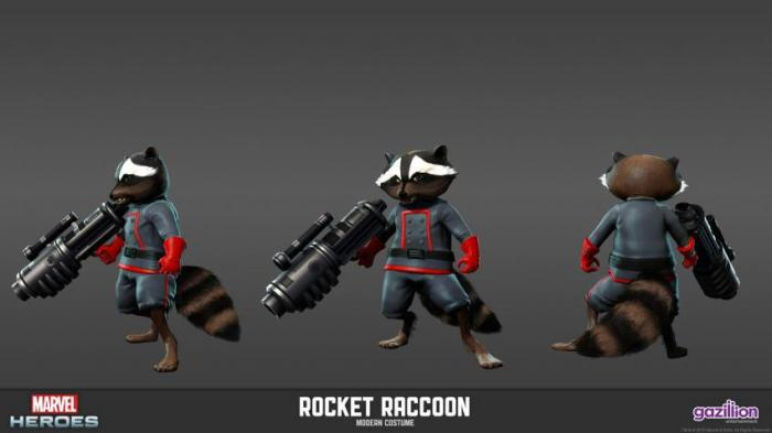 rocket raccoon marvel heroes