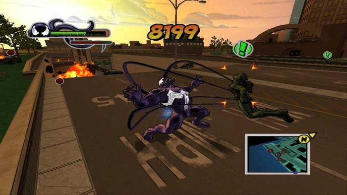 ultimate spiderman venom screen shot