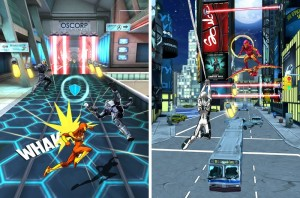 spider-man unlimited fighting and swinging