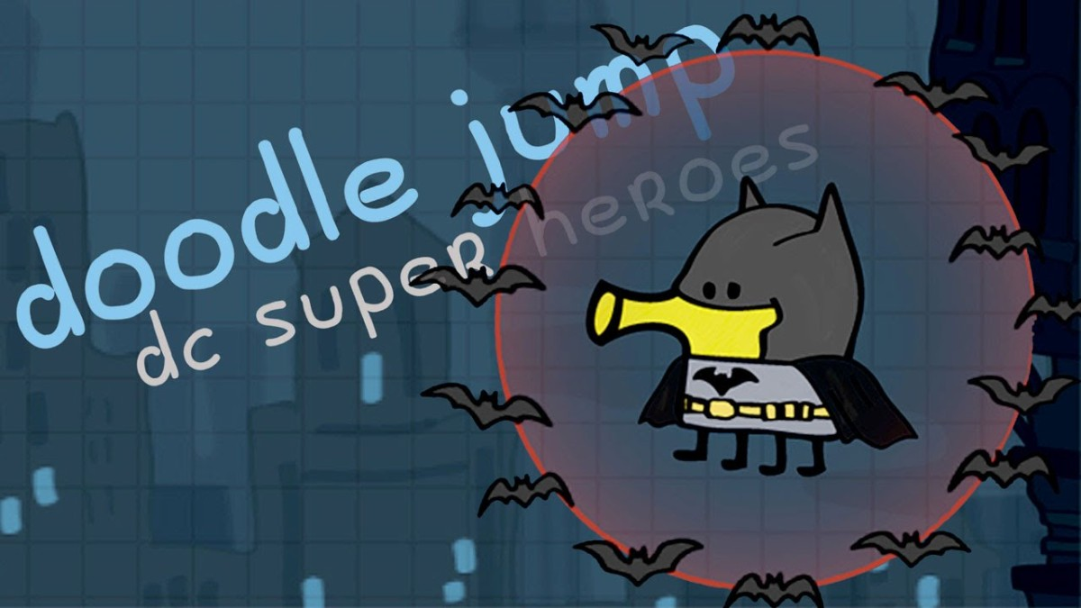 The Dark Knight As Youve Never Seen Him Before In Doodle Jump Dc