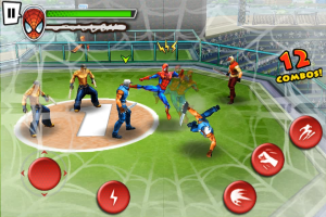 spider-man fighting