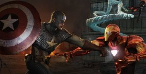 cap v iron man