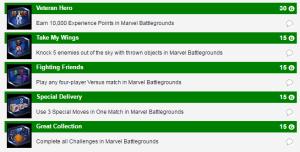 NewAchivements marvel battlegrounds