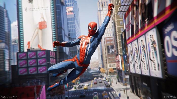 spider-man web-swinging